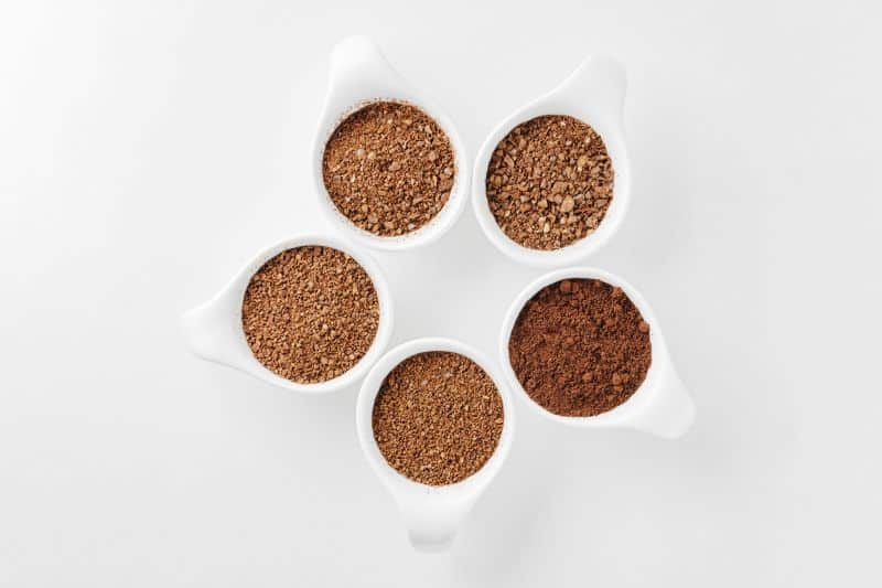 5 cups of ground coffee coarse and fine