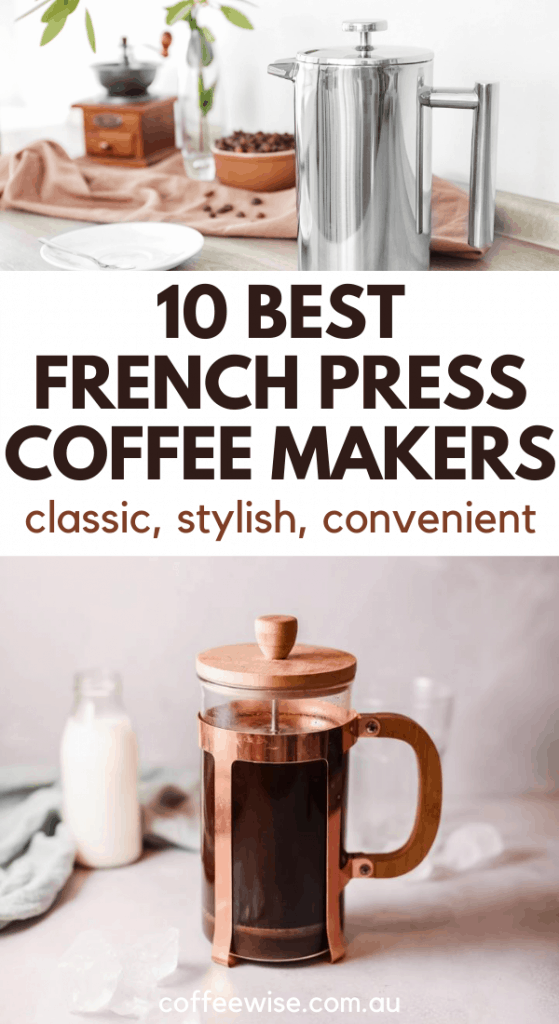 Coffee plungers with text overlay best french press coffee makers