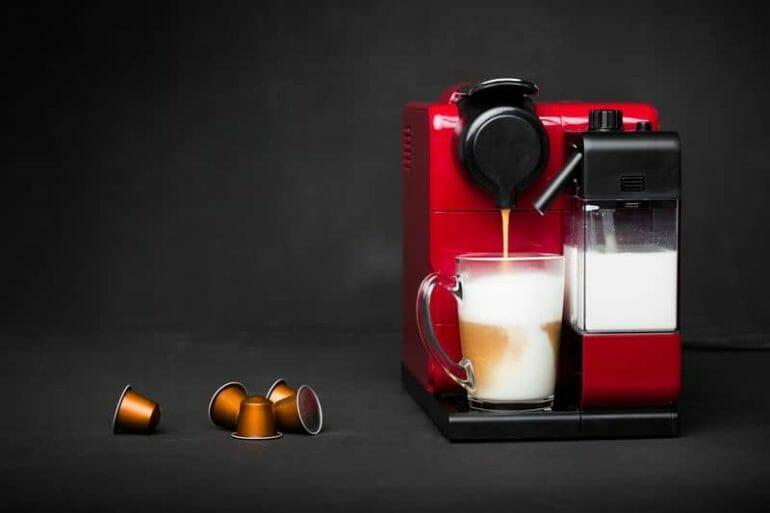 Cappuccino and capsule coffee machine