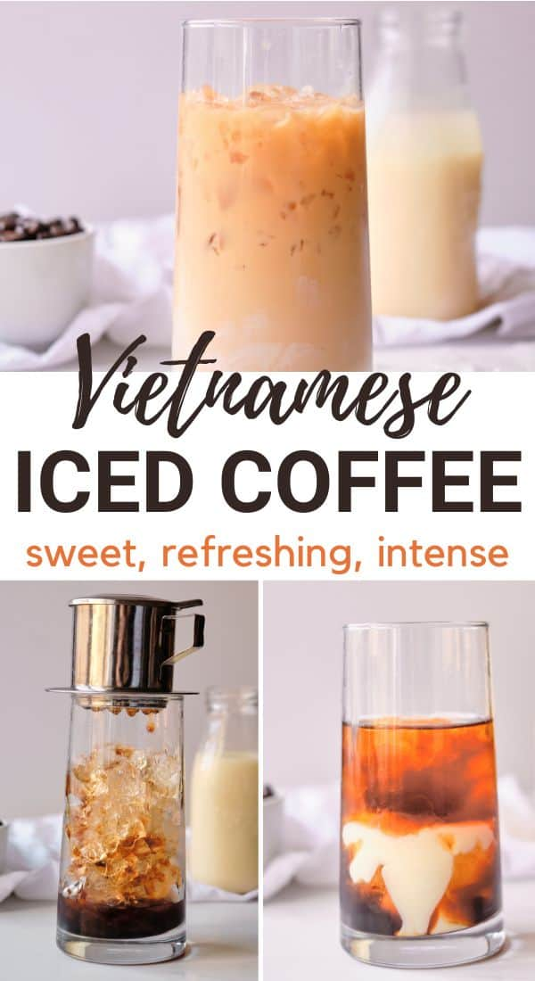sweet iced coffee with text Vietnamese Iced coffee