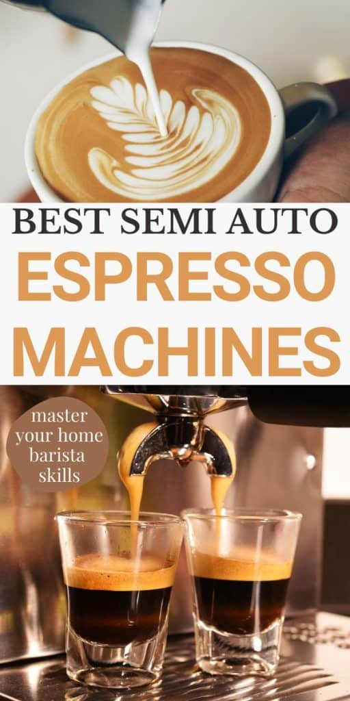 images of coffee from espresso machine semi automatic
