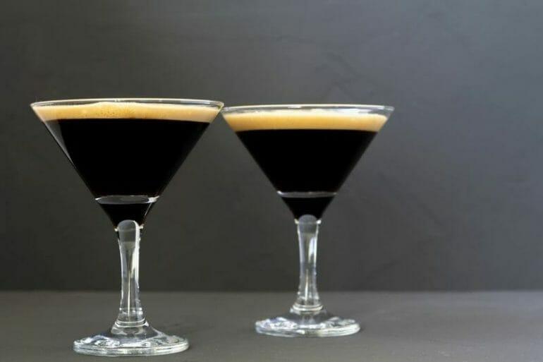 espresso martini in cocktail glass