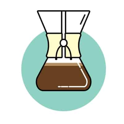 Icon of chemex coffee brewer