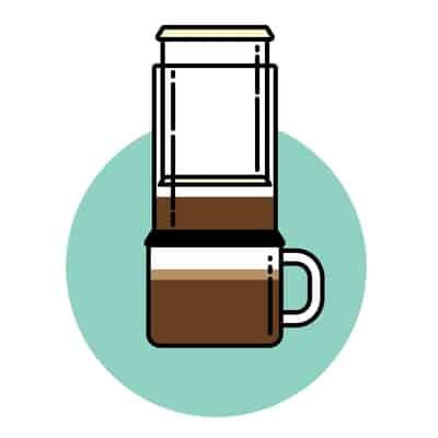 Aeropress coffee brewer icon