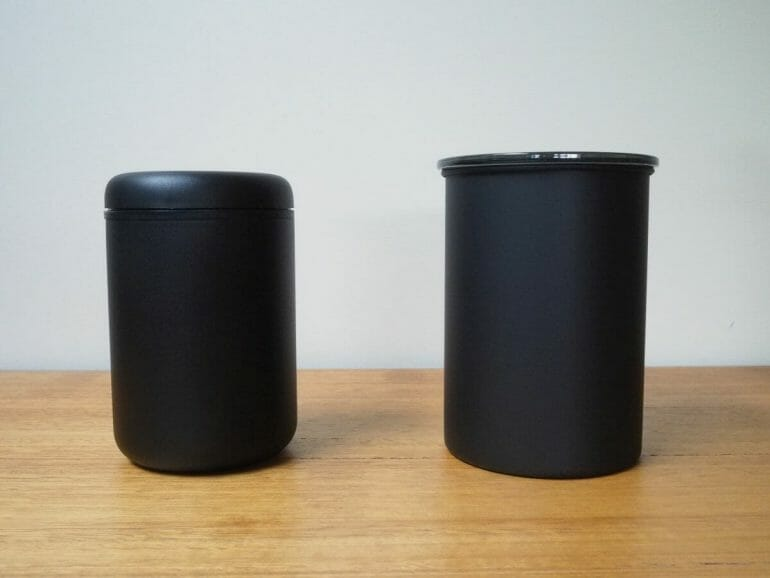 Fellow atmos and airscape coffee storage jar.