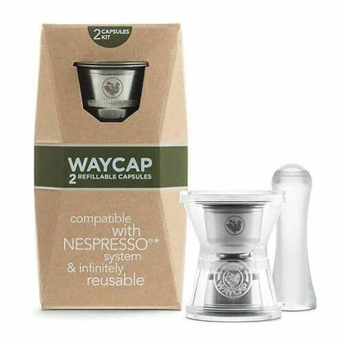waycap 2 capsule nespresso reusable coffee pod